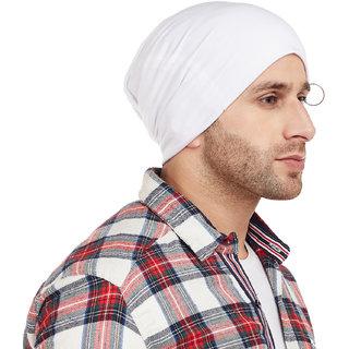 7b4436ae6b5 Buy Vimal-Jonney White Blended Beanie Cap For Men Online   ₹249 ...