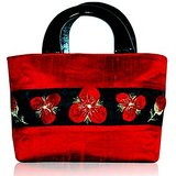 Red Hot Celebrity Style Silk Handbag