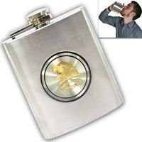 07 Oz STAINLESS STEEL Drinks Hip Pocket Wine Flask Screw Cap - 67 - 5379884