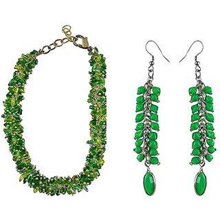 eshoppee designer handmade beaded bracelet with earring pair