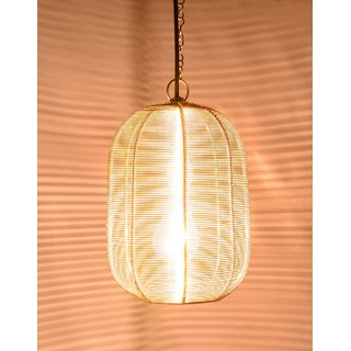 AH Gold color Iron Pendant Lamp Light / Ceiling Lamp Light / Hanging Lamp Light ( 12 x 8 )