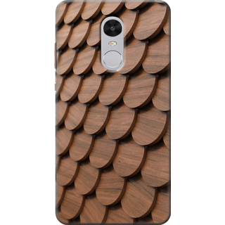 Buy Redmi Note 4 Printed Back Case Cover Wood Carving Pattern