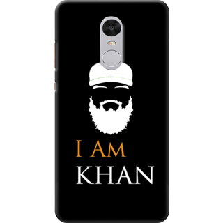 Redmi Note 4 Printed Back Case Cover - I am khan Design