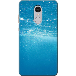 Redmi Note 4 Printed Back Case Cover - blue water Design