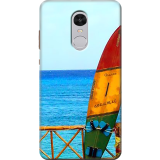 Redmi Note 4 Printed Back Case Cover - Beach view Design
