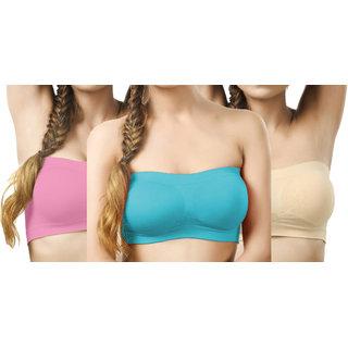Hothy Perfect Women's Tube Bra (Pack Of 3)
