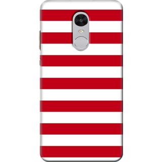 Redmi Note 4 Printed Back Case Cover - Red white Stripes Design