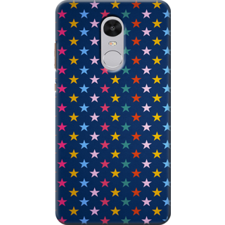 Redmi Note 4 Printed Back Case Cover - Colorful Stars Grunge Design