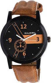 Kajaru KJR-4 Stylish And Elegant Brown Strap Wrist Watch For Men-KJR413