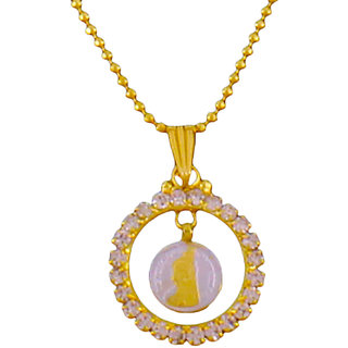 Guarantee Ornament House Gold Plated Gold Alloy Pendant with chain For Women