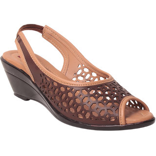 Msc women Synthetic Brown Sandals