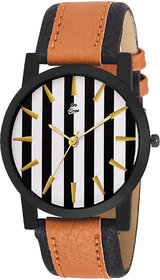 Eraa Attractive Stripes Analog Wrist Watch For Men