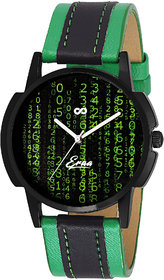 Eraa Green & Black Analog Wrist Watch For Men