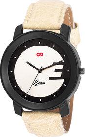 Eraa Black & Beige Analog Wrist Watch For Men