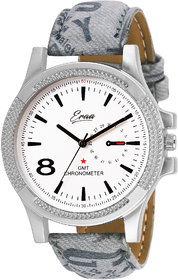 Eraa Men Smoky White & Grey Analog Wrist Watch