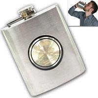 07 Oz STAINLESS STEEL Drinks Hip Pocket Wine Flask Screw Cap - 68 - 5381382