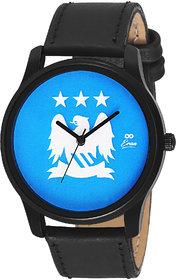 Eraa Black & Blue Analog Wrist Watch For Men