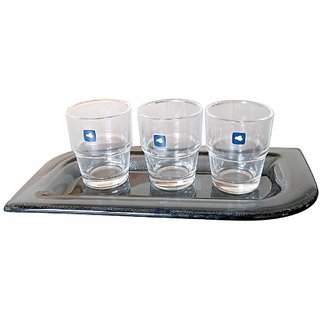 Leonardo Serving Set (3 Glasses With 1 Serving Tray)