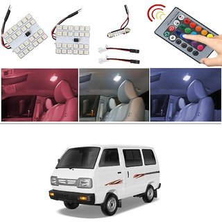 AutoStark Remote Changing Color 2Pc 24 LED SMD Car Roof Light Dome Light For Maruti Suzuki Omni (Maruti Van)