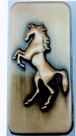 HORSE EMBOSSED BUTANE GAS CIGARETTE LIGHTER -PIA INTERN