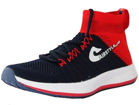 Max Air Running Sports Shoes 8846 Navy Red