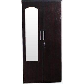 Caspian Leaf Textured  2 Door Wardrobe  With Mirror