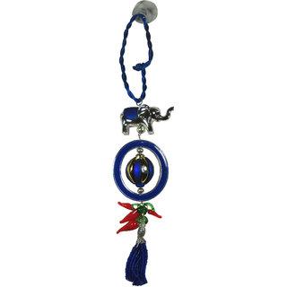 Golden Silver Blue Evil Eye Nazar Feng Shui For Car  Home Hanging blue Resin Nazar Suraksha Kawach Kavach-30x5.5 (LxB)C