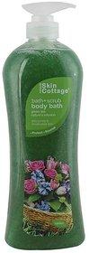 Skin Cottage Bath+Scrub Body Bath, Green Tea Nature's Essence - 1000ml