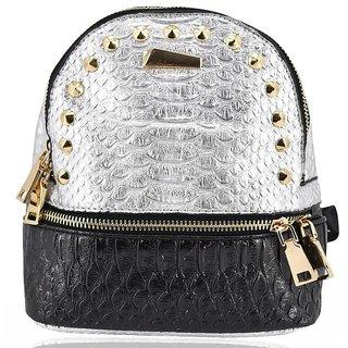 Mini Backpack School Bag For Kids - Silver