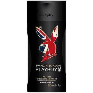 Playboy Swingin London Full Body Shower Gel  Shampoo - 250ml(8.4oz)