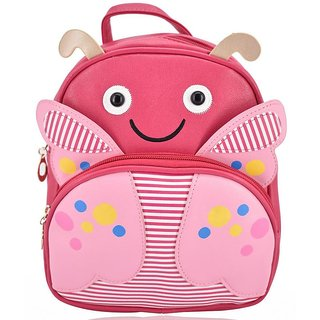 Mini Backpack Butterfly School Bag For Kids - Pink