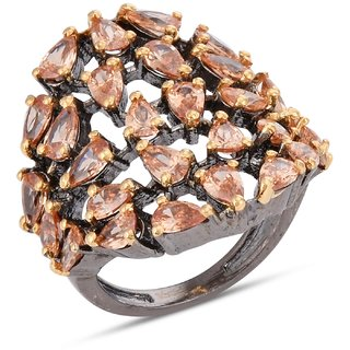 Tistabene Contemporary Black Beauty Beige Colored Stone Cocktail Ring For Women and Girls (RI-0832)
