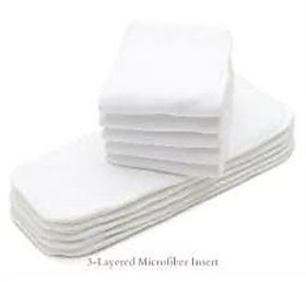Tinytots Set Of 5 Microfiber Inserts for cloth diapers