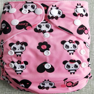 Tinytots Reusable  Nappy washable Chemical free leak free Pocket Cloth Cover Diaper -teddy