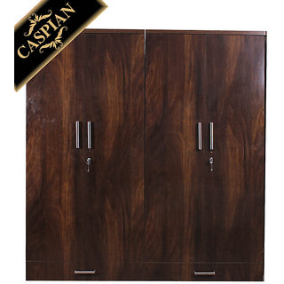Caspian Junglewood Textured 4 Door Wardrobe
