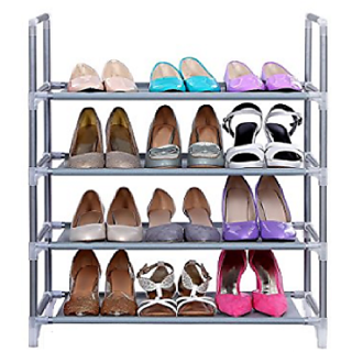 Portable 4Layer shoe rack-Open