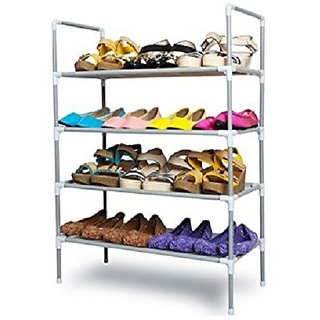 shoe rack cabinet silver four self