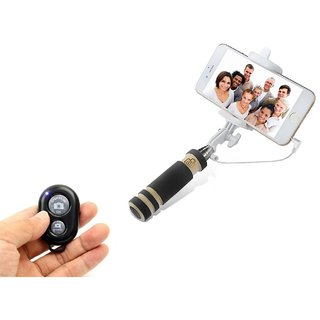 De-Techinn Selfie Stick Accessory Combo for All Smart Mobile Phones With Bluetooth Shutter Selfie Remote (Multicolor)