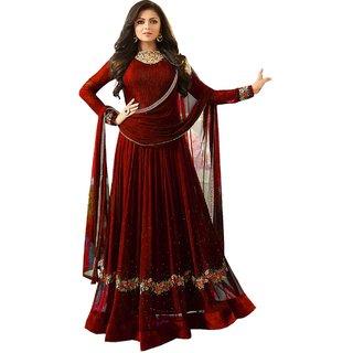 Ethnic Yard Designer Faux Georgette Festive Wear Anarkali Salwar Kameez F1161