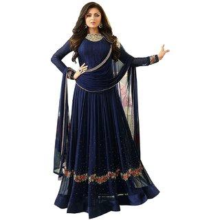 Ethnic Yard Designer Faux Georgette Festive Wear Anarkali Salwar Kameez F1163