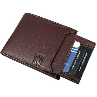WENZEST Men Brown Artificial Leather Wallet  (6 Card Slots) (Synthetic leather/Rexine)