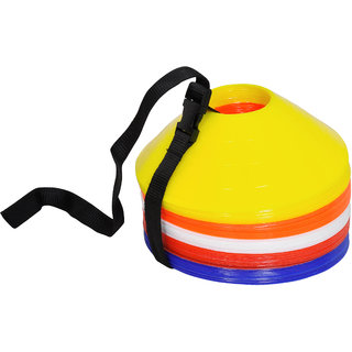 Grazzo Strong Durable Soccer Cones Standard Size Training Practice Multicolor 50 Soccer Training Cones