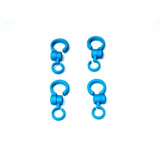 CAR HOOKS TAKE CARE LUGGAGE HOLDER FOR CARRY BAGS HANDBAGS 4 PIECES PER PACK COLOUR BLUE