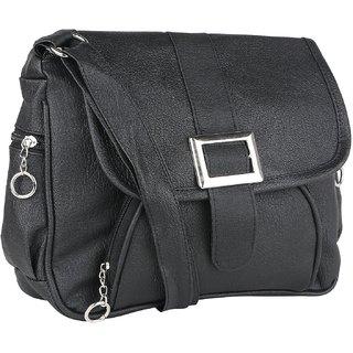 Bizarre Vogue Stylish Partywear Sling bags for Women's  Girls (Adjustable Strap) (Black)