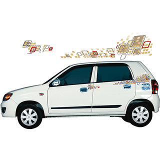 Red Gold Graphics Decalsfor Maruti Alto Ice Cube Buy Red Gold - Graphics for alto car