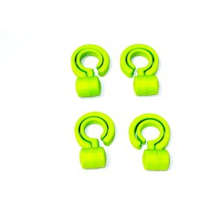 CAR HOOKS TAKE CARE LUGGAGE HOLDER FOR CARRY BAGS HANDBAGS 4 PIECES PER PACK COLOUR GREEN