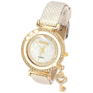 Young & Forever  Young & Forever Fashionista Key Charm Bracelet Watch For Women