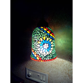 DESIGNER UNIQUE HAND CRAFTED GLASS MOSAIC CHANDELIER/HANGING/NIGHT LAMP SHADE