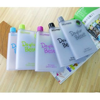 XTR 380ml Do Your Best Plastic Cups Creative Notebook Paper Water Bottle Handy Cup