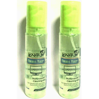 Multipurpose cleaning GEL spray kit with Microfibre cloth-100mleach (set of two)(Fresh Root)